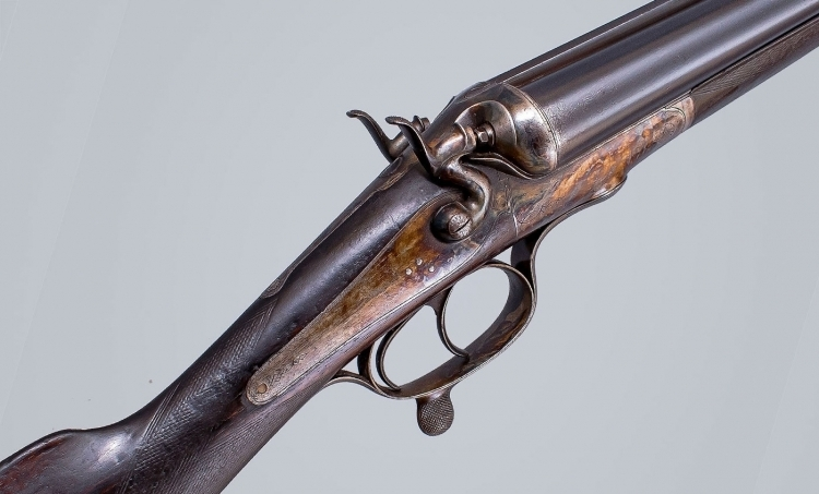 10 X 2 7/8 BORE BELGIUM ROTARY HUNDER-LEAVER HAMMER GUN