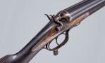 Sold - 10 X 2 7/8 BORE BELGIUM ROTARY HUNDER-LEAVER HAMMER GUN