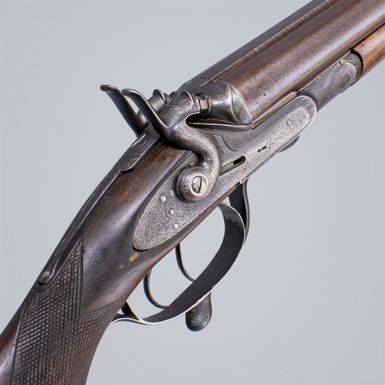Sold - .500 DOUBLE RIFLE BY I HOLLIS AND CO