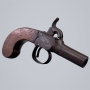 SOLD - ENGLISH PERCUSSION POCKET PISTOL