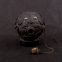 "ANTIQUE NAUTICAL SAILOR'S CARVED COCONUT ""BUGBEAR"" GUN POWDER FLASK"