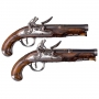 PAIR OF ORNATE FRENCH OFFICERS PISTOLS SIGNED 'LE ROY A JOINVILLE'